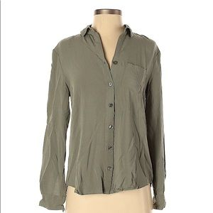 Olive Green / Army Green Button Down Top
